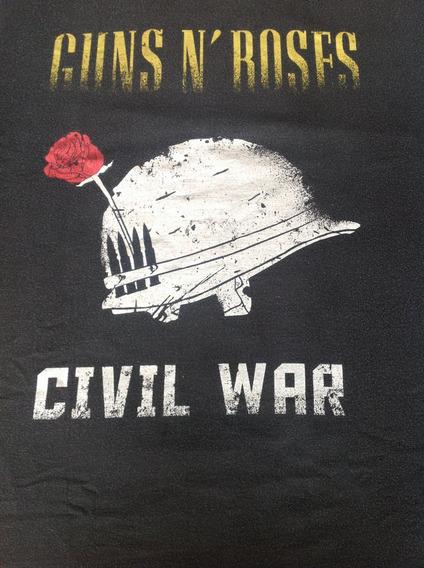 Guns And Roses - Camisa Civil War Produto Oficial