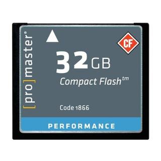 Tarjetas Compactflashpromaster Performance 32gb Tarjeta C..