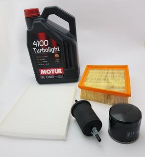 Kit Filtros+aceite Motul 4100 Ford Ka 2015/ 1.5