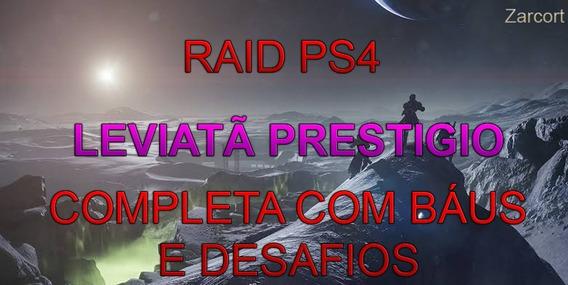 Destiny 2 Ps4 Raid - Leviatã Prestigio Completa