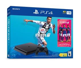 Consola Sony Playstation 4 Slim 1tb + Fifa 19 Ps4 + Regalo