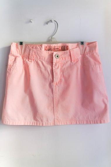 Mine Jeans Pollera Coral Corta 100 % Algodón