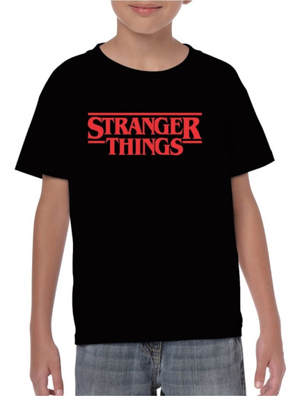 Playera Stranger Things Niño Negra