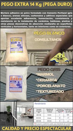 Pego Extra 14 Kg Blanco Y Gris (pega Fuerte)