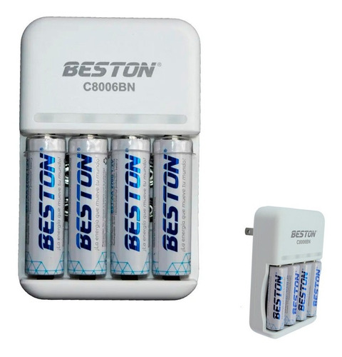 Baterias Beston 2700 Mah Aa Recargable X 4 Pack + Carg+ Obs