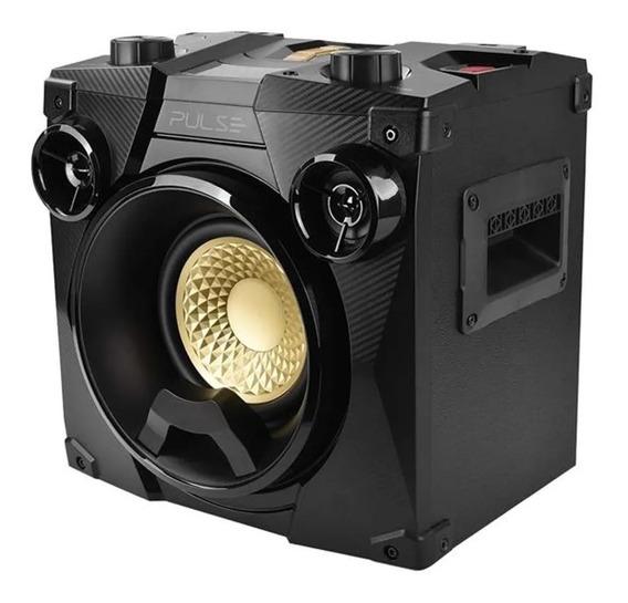 Caixa De Som Portatil 100w Rms Bluetooth Usb Radio Fm Pulse