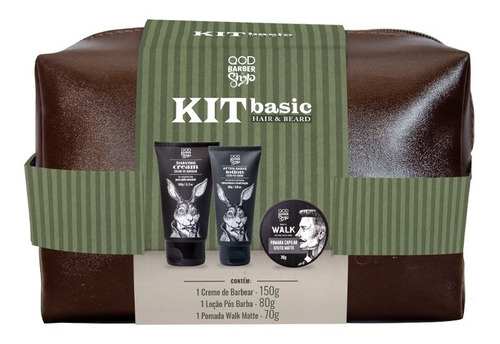 Imagem 1 de 1 de Kit Basic Hair&beard | Necessaire + Produtos Cabelo E Barba
