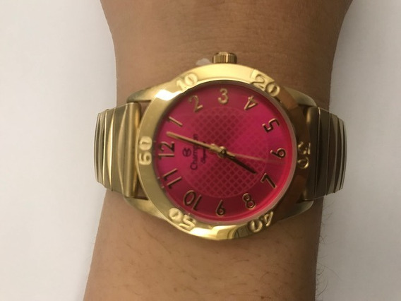 Relógio Champion Feminino Dourado Cn26322j