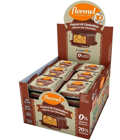 Paçoca De Castanhas Zero Açúcar Com Chocolate Flormel