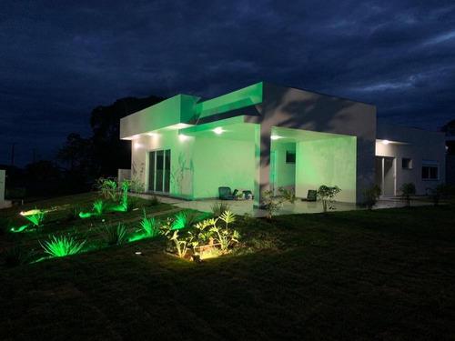 Imagem 1 de 8 de Maginifica Casa A Venda No Condomínio Riviera De Santa Cristina Iii - 1116