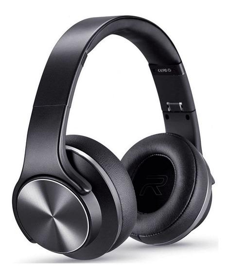 Fone Bluetooth Headphone Preto Modo Caixa De Som 2 Em 1 Novo