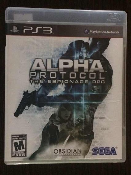 Jogo Alpha Protocol - Playstation 3 (mídia Física)