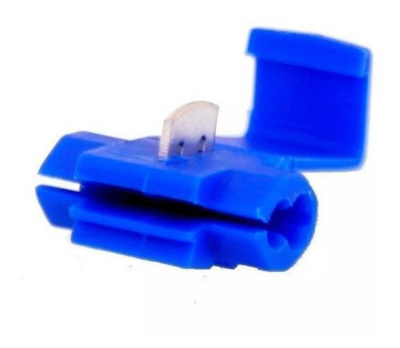 100 Conectores De Derivação Perfurante 0,75-2,50 Mm Azul