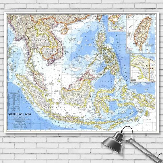Mapa Político Sudeste Asia 78cmx61cm