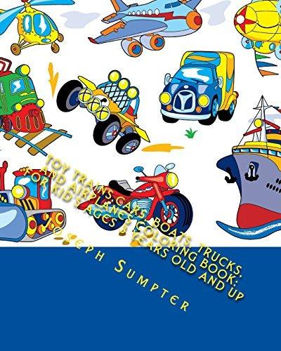 Juguete De Trenes De Coches Barcos Camiones Y Aviones Libro