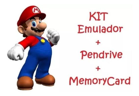 Pendrive C/ Jogos Com Memory Card + Opl P/ Playstation2