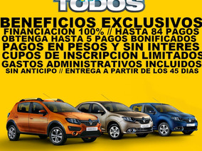 Renault - Plan Rombo - 100% Financiado - Sin Interes (sg)