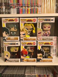 Funko Pop My Hero Academia Y One Piece.