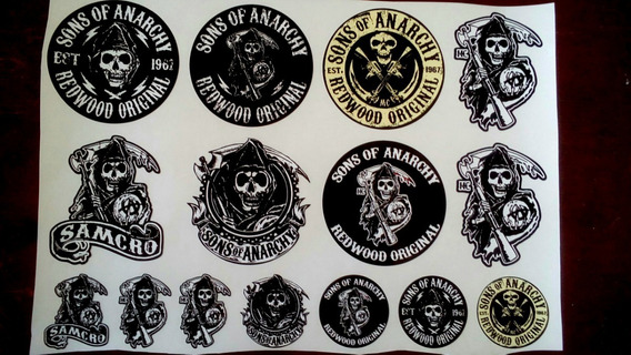 15 Adesivos Sons Of Anarchy