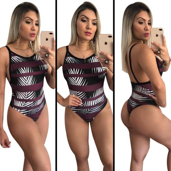 Maiô Feminino Body Estmpado Sexy Moda Praia Verão Ref 004