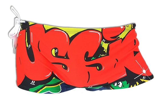 Traje Baño Ausiebum Graffiti Para Hombre Importado Australia