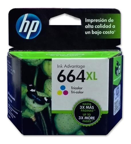 Cartucho Tinta Hp 664xl Color F6v30al Original Alto Rendimie
