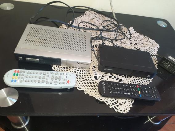 Decodificador Movistar Tv Con Sus Controles Y Antena.