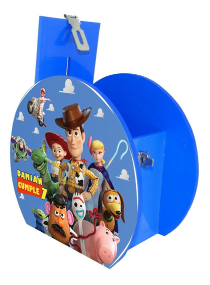 12 Alcancía Centro Mesa Dulcero Toy Story Stars Personaliza