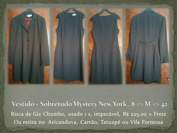 Vestido + Sobretudo Mystery New York . 8 = M = 42