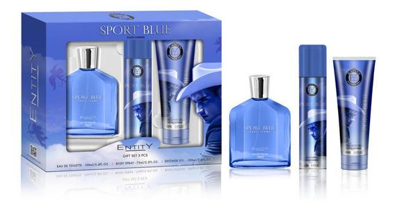 Kit Sport Blue Perfume, Desodorante E Pós Barba Original
