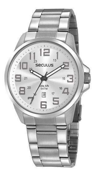 Relógio Seculus Long Life Masculino 20807g0svna1+nf
