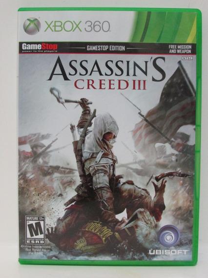 Assassin´s Creed 3 - Xbox 360 Original Completo Mídia Física