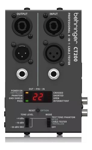 Testeador De Cables Sonido Behringer Ct200 + Garantía