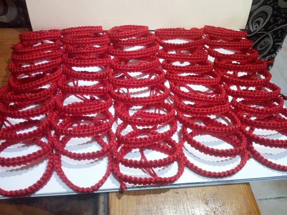 Pulsera Roja De Proteccion Lote De 50