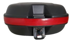 Bau Para Moto Bauleto 48 Litros Com Kit Instalação E Chave