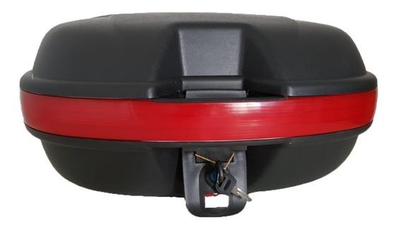 Bau Para Moto Bauleto 46 Litros Com Kit Instalação E Chave
