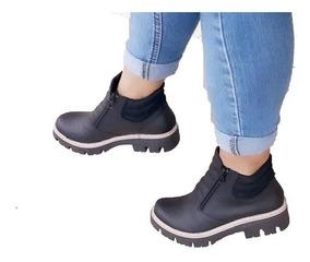 3864b3245 Zapatos Mujer Botineta Tipo Borcego Con Cierre Nuevo Art 200