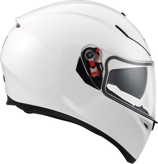 Casco Moto Agv K3 Sv White Liso Doble Visor Devotobikes