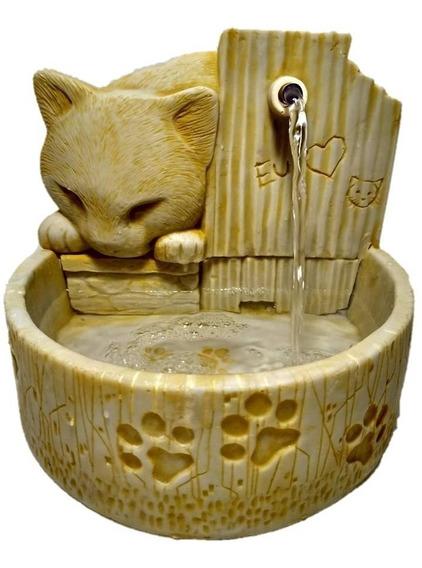 Bebedouro Para Gato Fonte De Água Em Resina 8 Cores Promoção