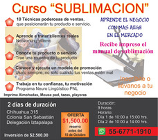 Curso Para Sublimar Sublimacion Sublimado En El Df