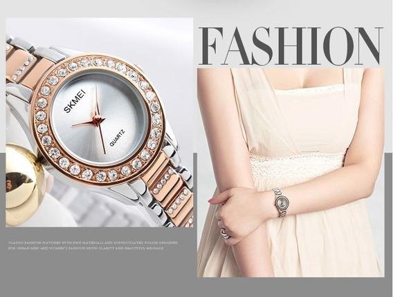 Relógio Feminino Luxo Skmei 1262