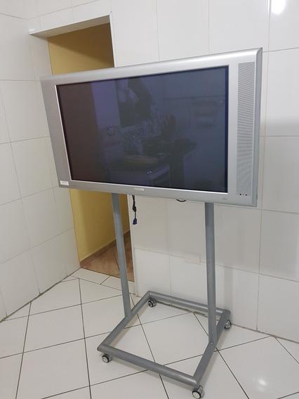 Tv Philips 42 Plasma Com Suporte Móvel