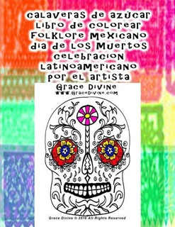 Calaveras De Azucar Libro De Colorear Folklore Mexicano Dia