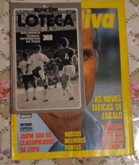 Revista Manchete Esportiva N 9 De 1977 - Zagalo Raridade