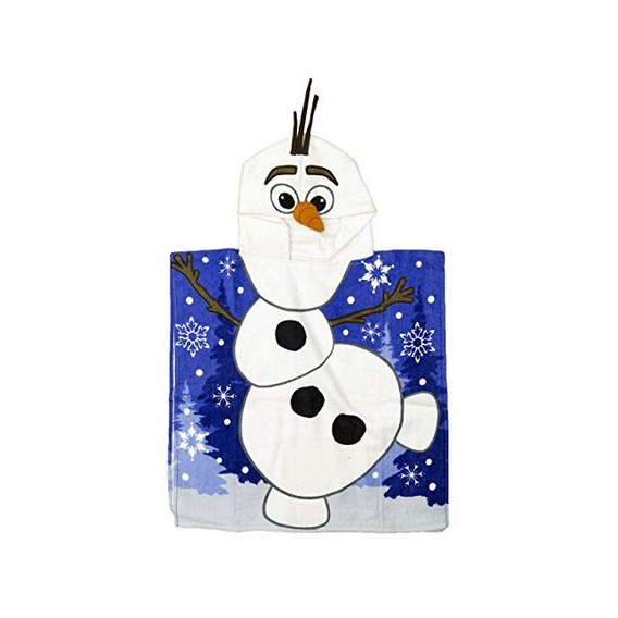 Frozen Hooded Poncho - Olaf