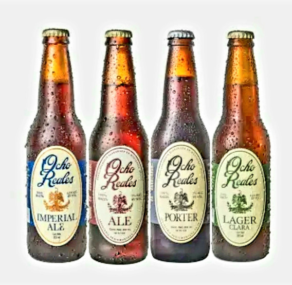 Cerveza Artesanal Ocho Reales Caja C/12 355mls Sin Gluten