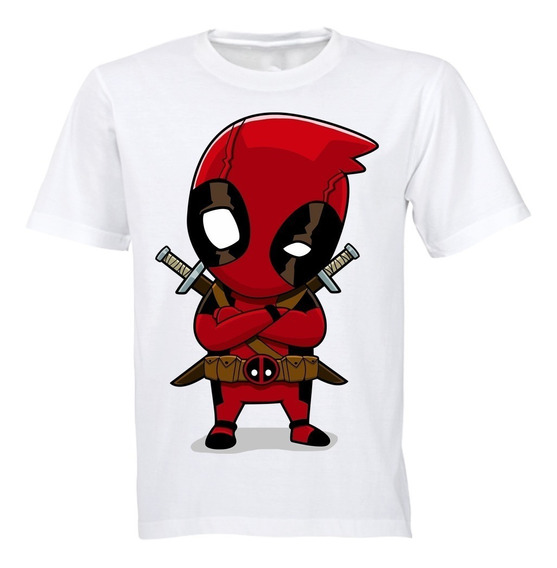 Playera Deadpool Diseños Marvel Superheroes Algodon Beloma