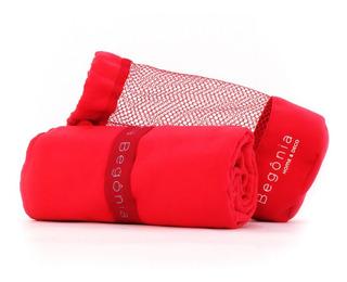Toalha De Microfibra - Begônia - 80cm X 130cm Vermelha