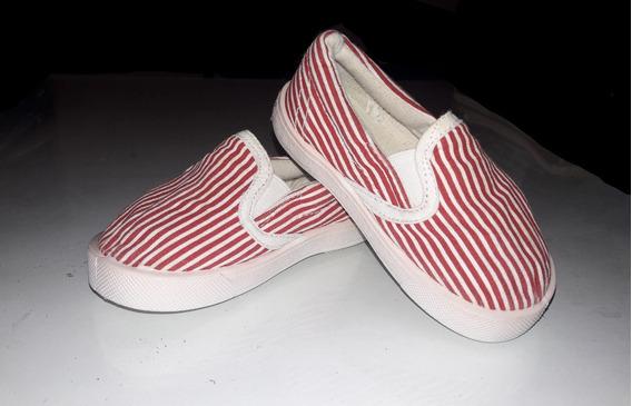 Bellas Panchas Cheeky T.20 Bebe Niños Zapatillas Rojo Blanco