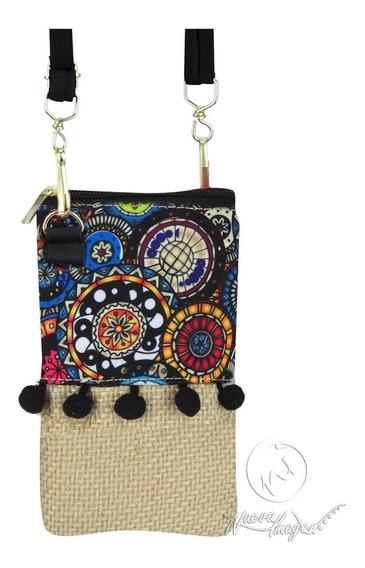 Portacelular Yute Mandala Color Juvenil ¡precio De Mayoreo!